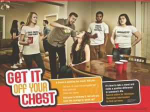 "Poster from Nebraska Wesleyan's ""bystander intervention"" education program. (Courtesy NWU)"