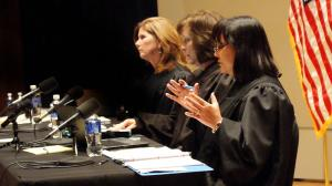 Three member Court of Appeals convenes at UNK. (Photo Courtesy Judicial Branch)