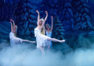"Vivi DiMarco in ""The Land of Snow"" from Ballet Nebraska's production of ''The Nutcracker''."