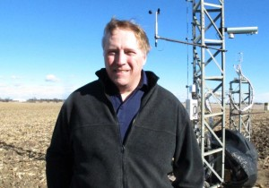 Andy Suyker says factors ranging from temperature and rainfall to soil type and crop variety can influence how much carbon is used by plants. (Photo by Grant Gerlock, NET News/Harvest Public Media)