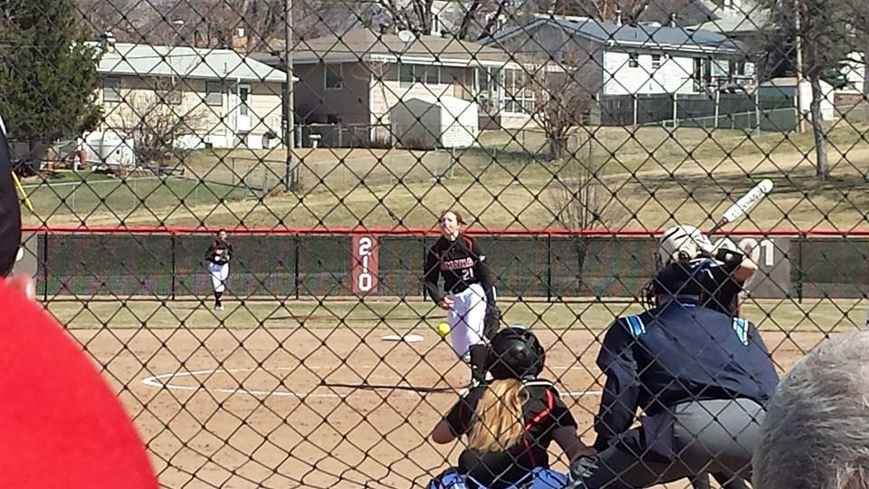 UNO's Kat Barrow (pitching) went 2-0 in the weekend sweep of Fort Wayne.