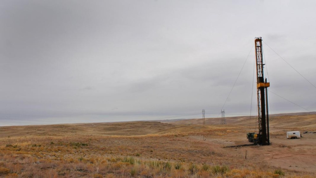 Temporary drilling equipment marks the site of the proposed waste-water injection well in Sioux County. (Courtesy NET)