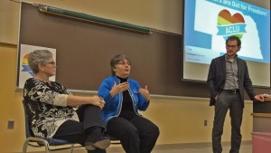 Sally and Susan Waters speak at University of Nebraska-Kearney (Photo: Bill Kelly/NET News)