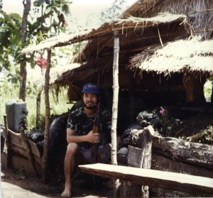 Liem Ha in a secret Nationalist Party camp on the Cambodia-Thailand border in the 1980s. (Photo courtesy of Liem Ha)