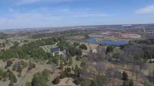 A drone's-eye-view of Lincoln from Pioneers Park. This photo was taken at just below 400 feet. (Photo courtesy of The Digital Sky)