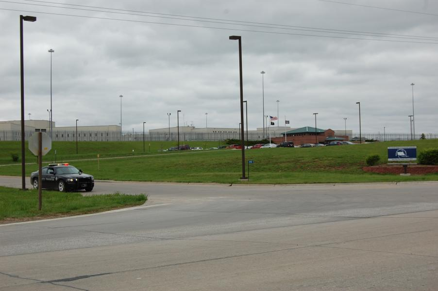 Tecumseh State Correctional Institution remains on lockdown after prisoners took control of multiple housing units Sunday afternoon. (Photo by Fred Knapp, NET News)