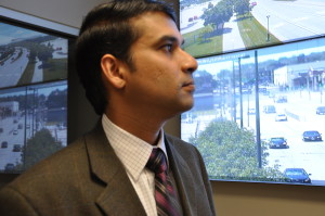 Murthy Koti is a city traffic engineer in Omaha's Public Works Department. He said it will cost $35 million to install cameras on every traffic signal in the city. However, most of that money, 80 percent, is federal money. (Photo by Ryan Robertson, KVNO News)