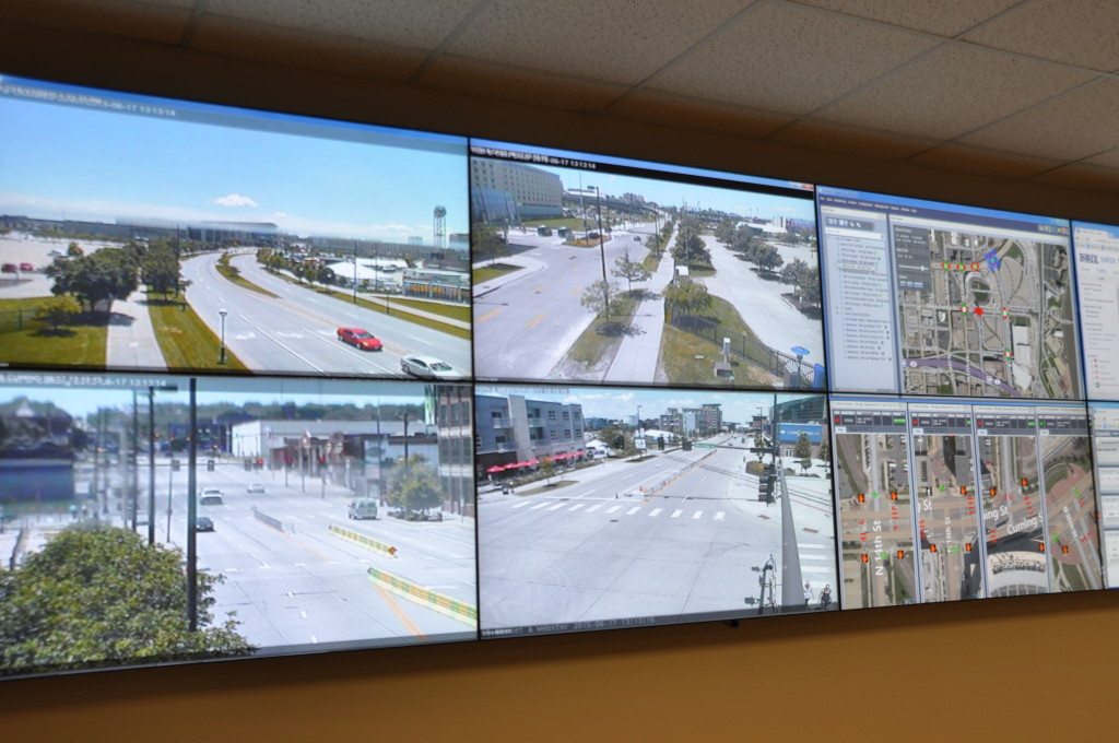 Cameras monitor five intersections around TD Ameritrade Park in Omaha. (Photo by Ryan Robertson, KVNO News)