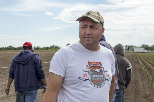 Farmer Joe Petrocco stands in a pepper field. If farmworker housing rules change, he says, he may have to change his operation. (Poncie Rutsch/KUNC)