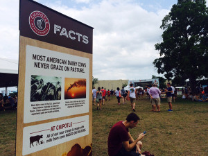 Chipotle is marketing its ideas about the food it serves through festivals around the country this summer. This one was in Kansas City on July 18. (Peggy Lowe/Harvest Public Media)