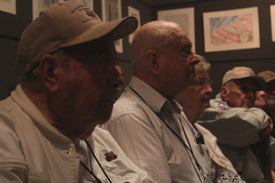 The 456th Bombardment Group was formed in 1943. 72 years later, only a handful of its former servicemen remain. Recently, the group held its 47th, and final reunion in Omaha. (Photo by Ben Bohall, NET News)