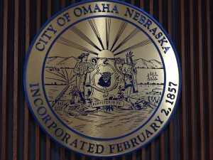 Omaha City Seal in the Legislative Chambers