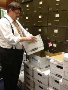 Staff at Nebraska Secretary of State's office receive referendum petitions from Nebraskans for the Death Penalty. (Courtesy Nebraska Secretary of State)