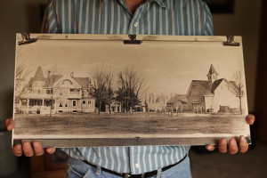 The Pfantz family homestead, where Craig Pfantz still lives and farms, was settled by his great-great-grandparents in the mid-1800s. The original Pfantzs were cattle sellers who raised horses and hogs and grew hay, oats, and a vegetable garden. (Abby Wendle/Harvest Public Media)