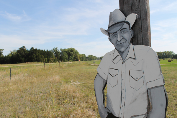 """One of the """"villagers"""" in Taylor, Nebraska (Photo by Mike Tobias, NET News)"""
