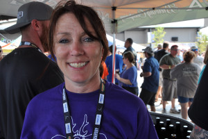 Kim Kavulak and her husband, Paul, own Nebraska Brewing Company, which sponsors Beerfest. Kavulak said many of the brewers at Beerfest don't sell in Nebraska. (Photo by Ryan Robertson, KVNO News)