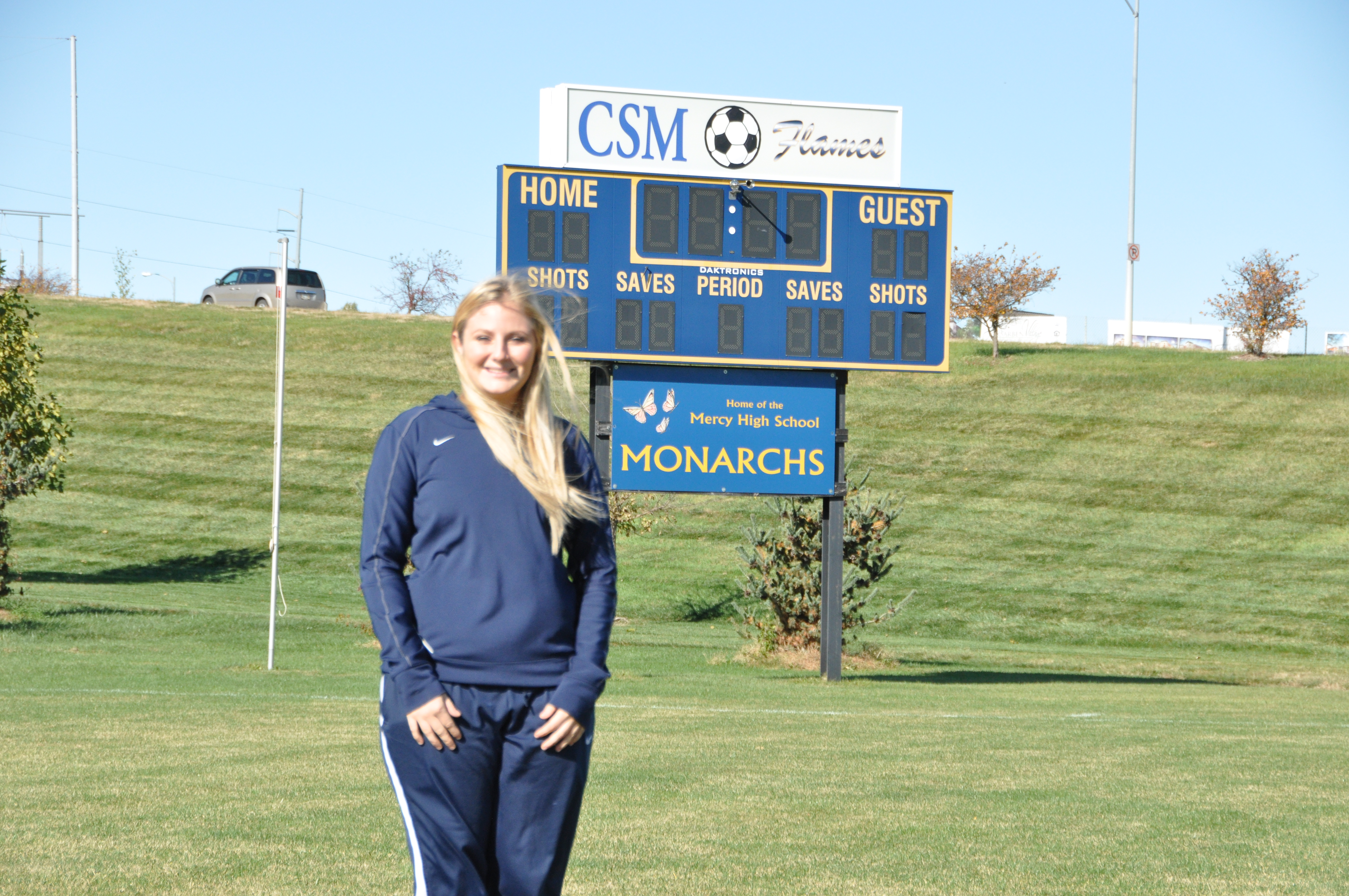 Macaela Steinke had her soccer career cut short due to concussions. (Photo Courtesy Brandon McDermott)