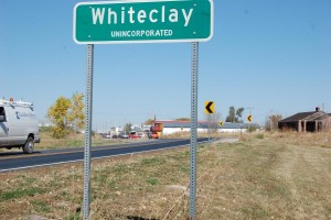 The entrance to Whiteclay, Nebraska. (Photo by Fred Knapp, NET News)