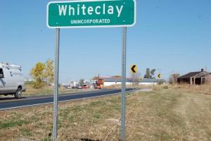 The entrance to Whiteclay, Nebraska. (Photo by Fred Knapp, NET News)