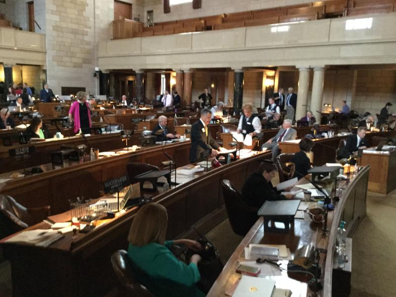 Senators debate Medicaid expansion in the Nebraska Legislature (Photo by Fred Knapp, NET News)