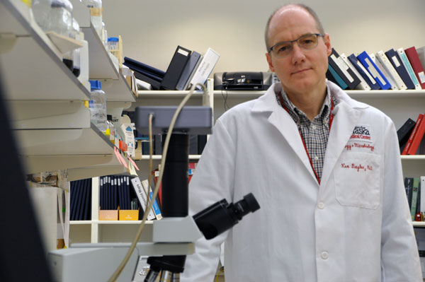 Kenneth Bayles, PhD., is the associate vice chancellor for basic science research at the University of Nebraska Medical Center. (Photo by Ryan Robertson, KVNO News)