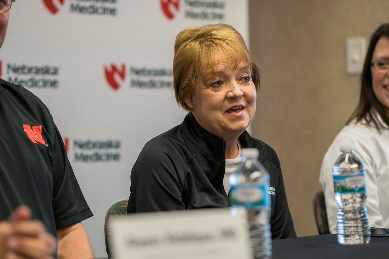 Donna Jacobsen just three months removed from her single lung transplant procedure.