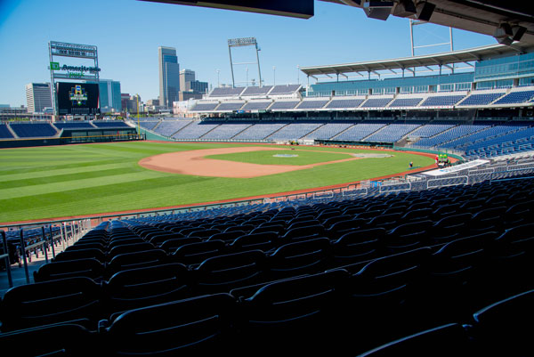 Looking southwest from TD Ameritrade Park in Downtown Omaha. (Photo courtesy Ryan Robertson)