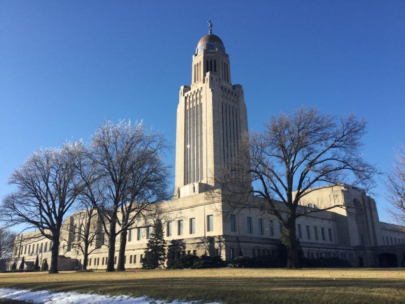 Sunlight glints off Nebraska's State Capitol Tuesday (Photo by Fred Knapp, NET News)